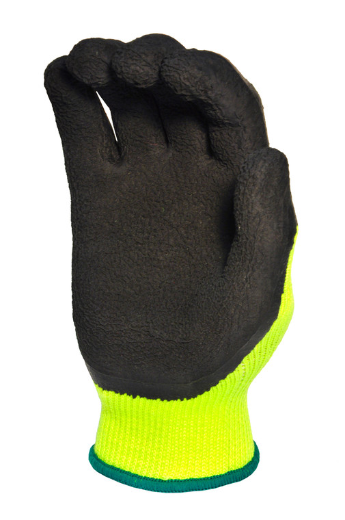 1516-6 Latex Coated High Visibility Work Gloves, Sold by each- 6 pairs