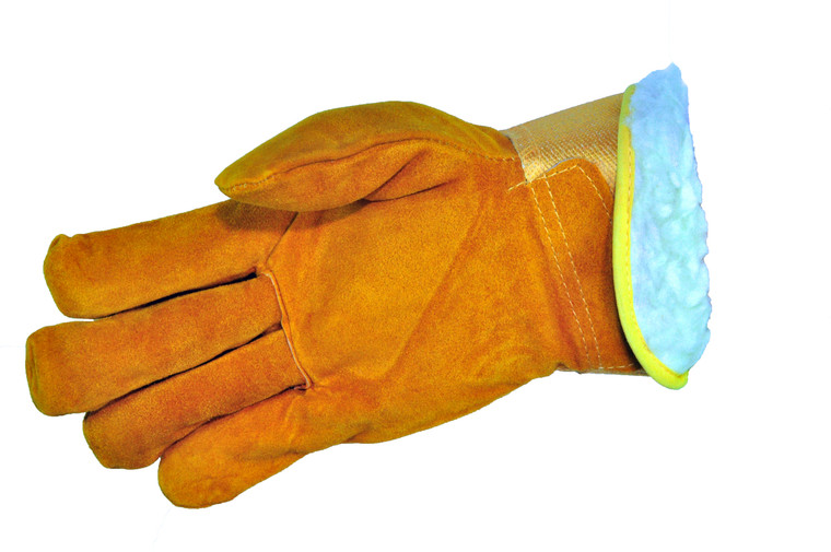 5055-3 Suede Cowhide Winter Work Gloves, X-Large, Sold by each- 3  Pairs