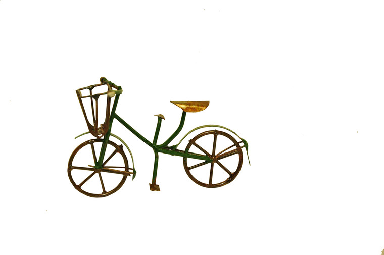 MiniGarden 10022 Fairy Garden Miniature Mini Bicycle Outdoor Statue, Sold by each- 1 Piece