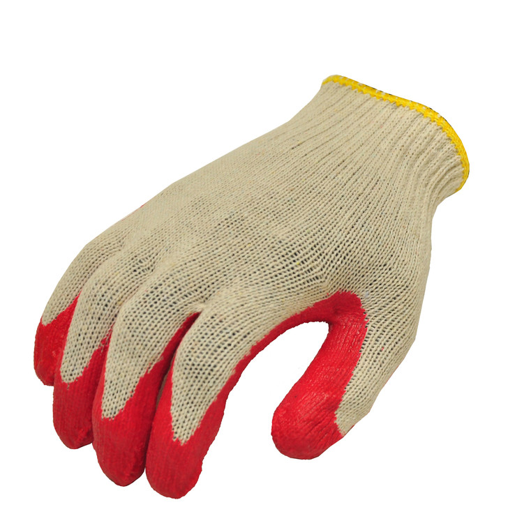 3106-10 Latex Dipped Work Gloves, Sold by each- 10 Pairs, Large