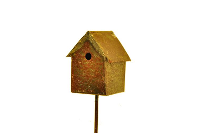 MiniGardenn 10020 Fairy Garden Miniature Bird House Pick, Sold by each- 1 Piece