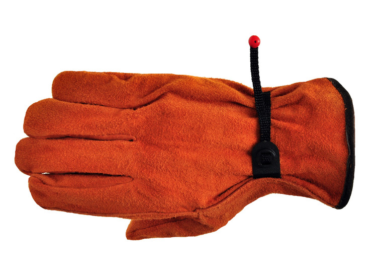 6053 Split Cowhide Leather Work Gloves with Ball & Tape, Sold by each- 3 Pairs