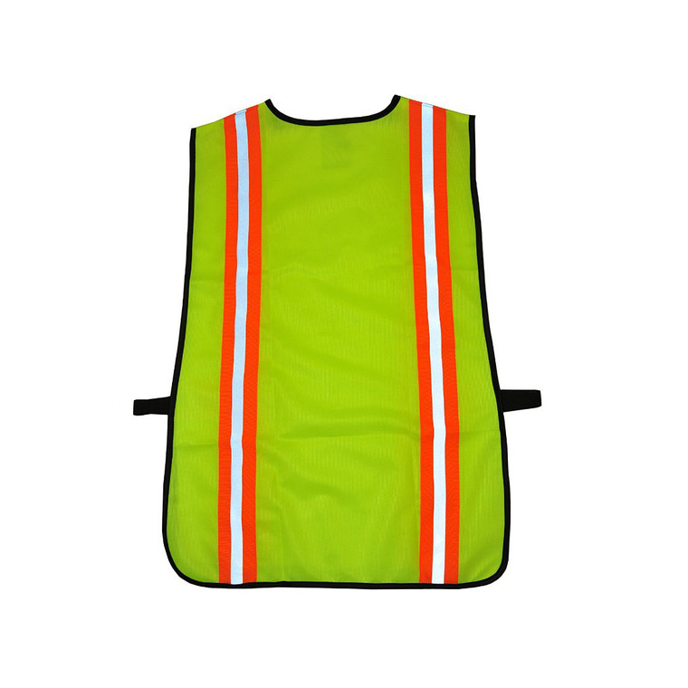 41112 Industrial Safety Vest with Reflective Stripes, Neon Lime Green, 1 piece