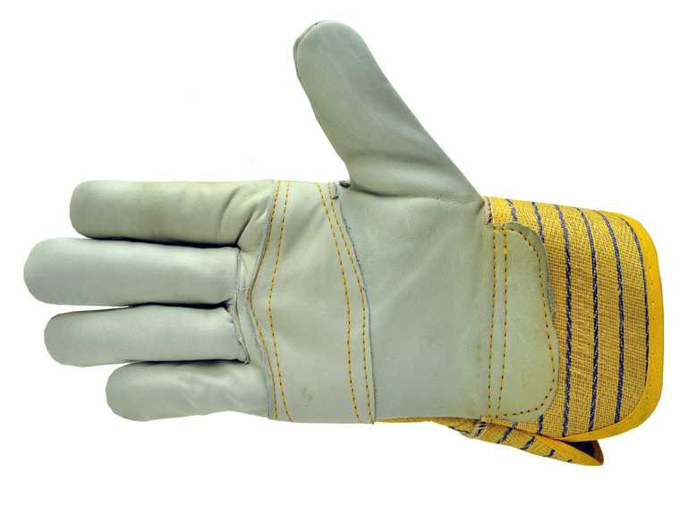 G & F 6431 Double Patch Palm Leather Work Gloves, Drivers Gloves, Large, Sold by each-1 Pair