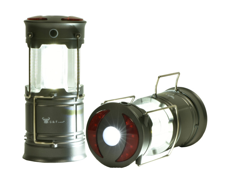 G & F 360 LED Lanterns Flashlights Long-Lasting Magnet Base Super Bright 2 Pack