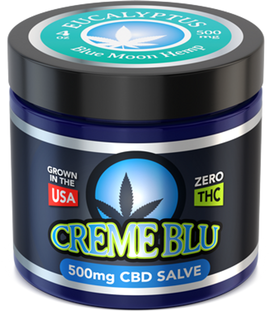 CBD Salve 4oz Eucalyptus by Blue Moon Hemp