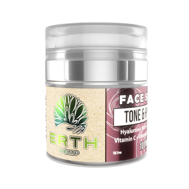 Tone & Hydrate CBD Face Serum - 100mg by ERTH