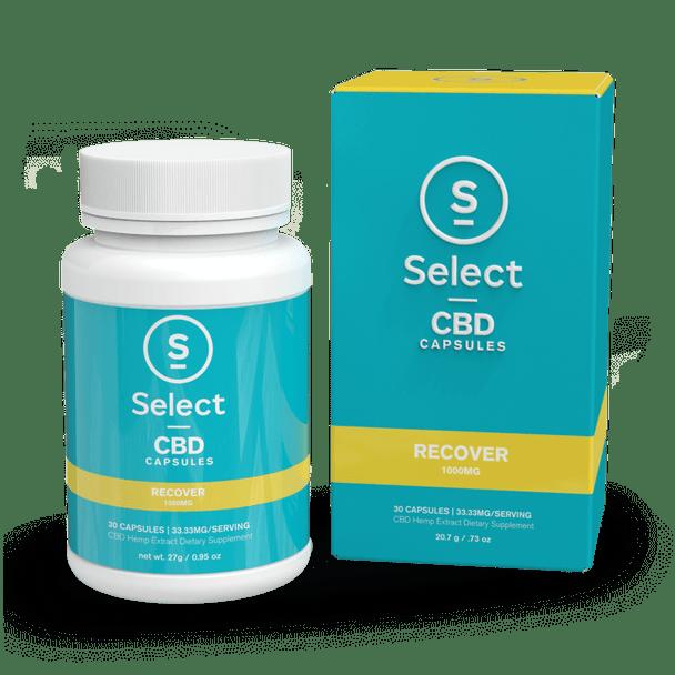 Recover - CBD Gel Capsule - 1000mg by Select CBD