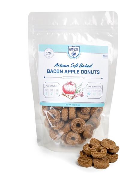 Hempbone Bacon Apple Donuts - CBD Dog Treats by Erth Hemp
