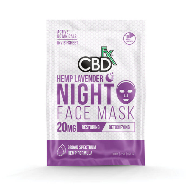 Lavender CBD Night Face Mask – 20mg by CBDfx
