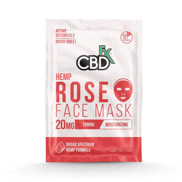 CBD Rose Face Mask – 20mg by CBDfx