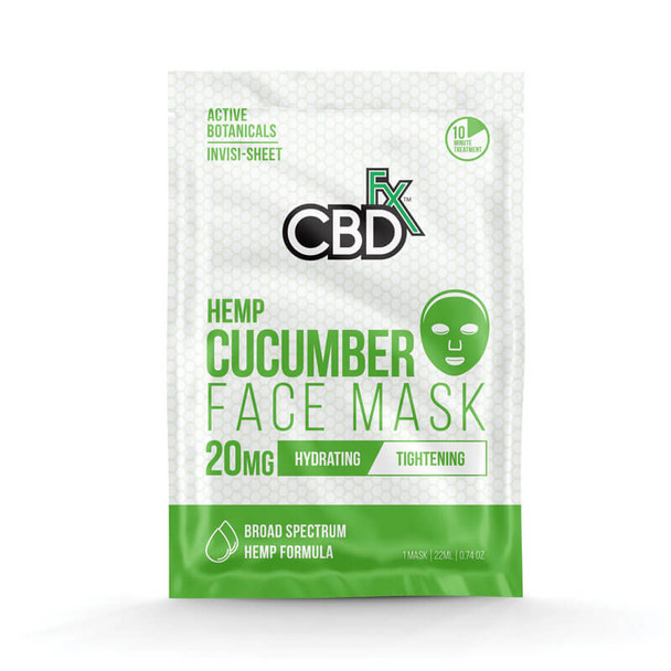 CBD Cucumber Face Mask – 20mg by CBDfx
