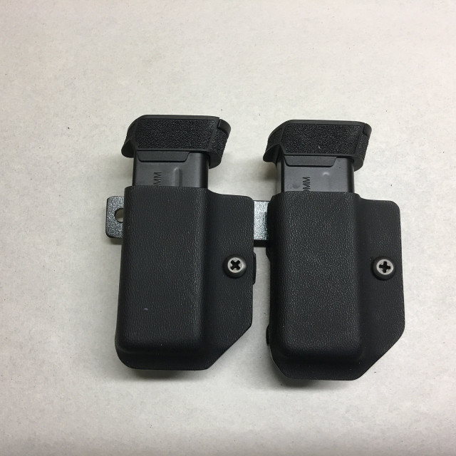 Dual Ambi Belt Clip Magazine Carrier