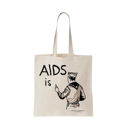 AIDS is... tote bag by Daryl Vocat