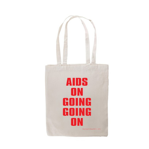 AIDS ON GOING GOING ON tote by Kay Rosen
