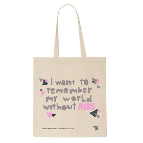 SOLD OUT - My world without AIDS... tote bag by Jessica Whitbread