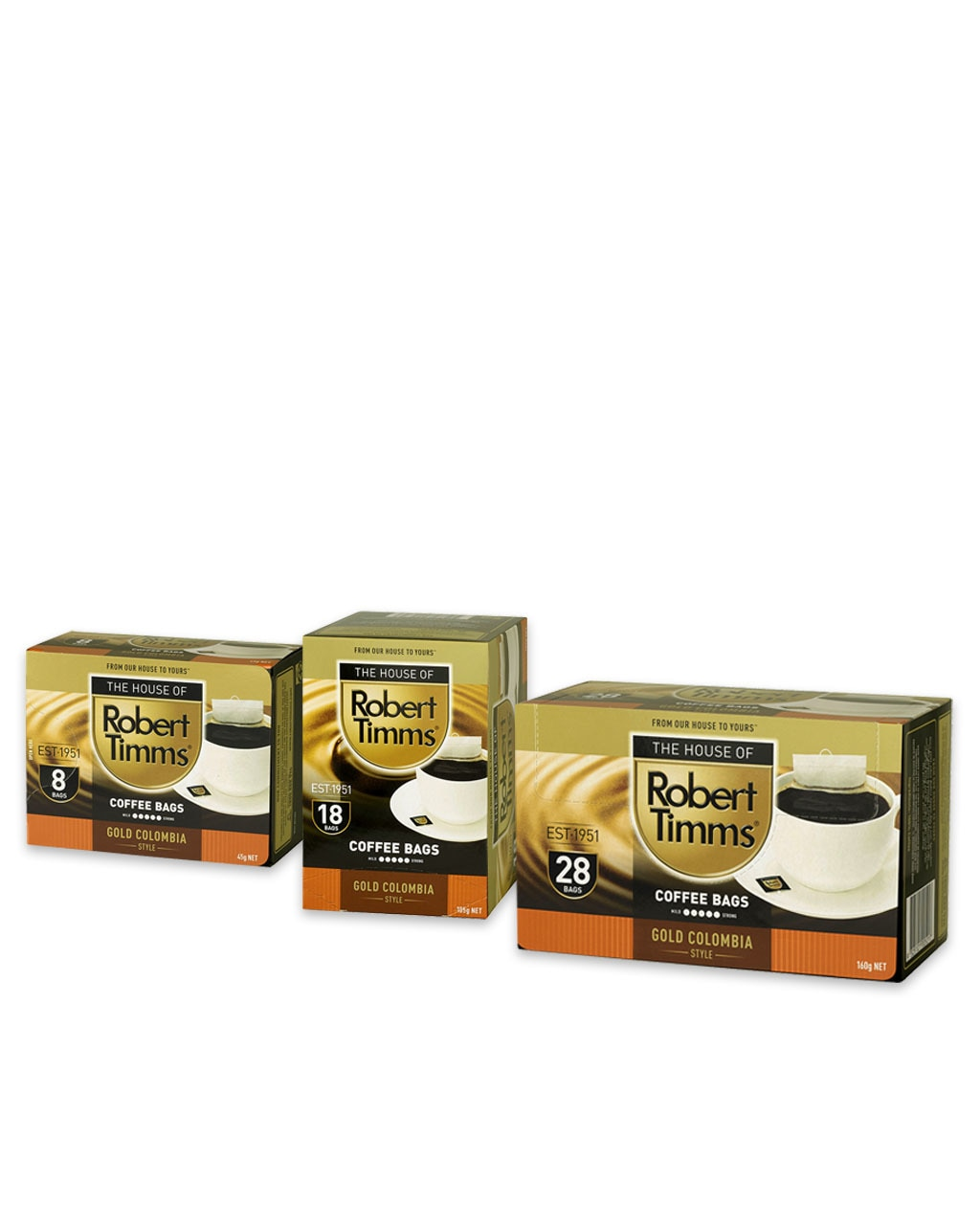 Gold Colombia Coffee Bags