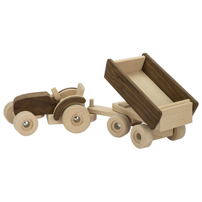 Goki Nature large tractor with trailer