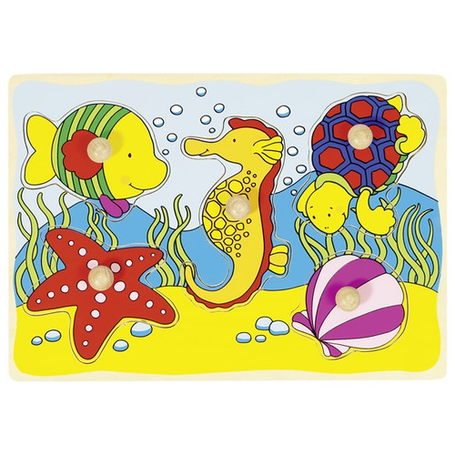 Goki under the sea peg puzzle 5 piece