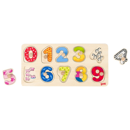 Goki learn to count peg puzzle 10 piece