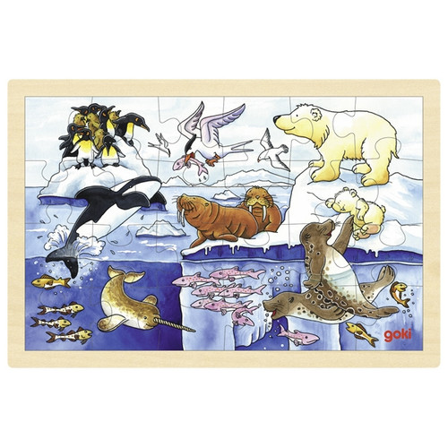 Goki arctic animals puzzle 24 piece