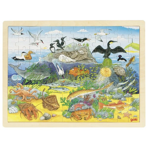Goki over and under the sea puzzle 96 piece