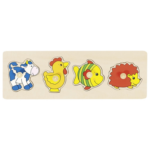 Goki animal peg puzzle 4 piece