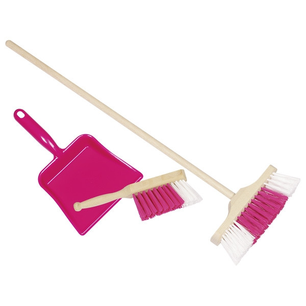 Goki Broom and dustpan set pink