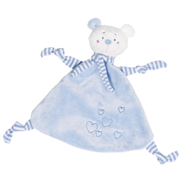 cause cuddle bear - velour and plush blue