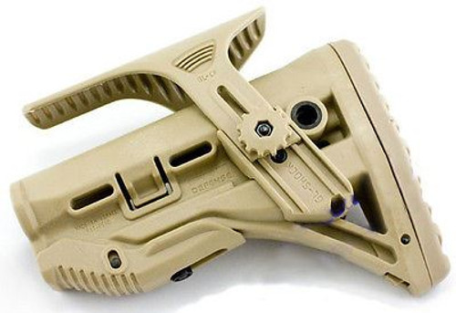M4 Tan De Crane Stock Butt Adjustable Sniper Chin Rest With Single Point