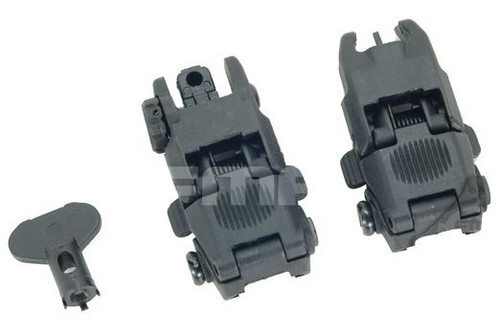 Fma Gen 2 Back Up Sights M4 Iron Sight Black Swat Mbuis Buis Pts Uk