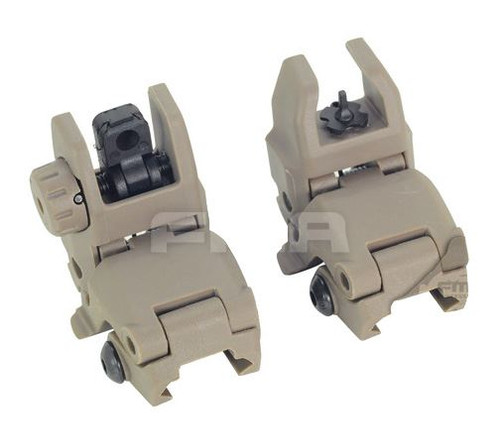 Fma Gen 1 Back Up Sights M4 Iron Sight Dark Earth Tan Mbuis Buis Pts Uk
