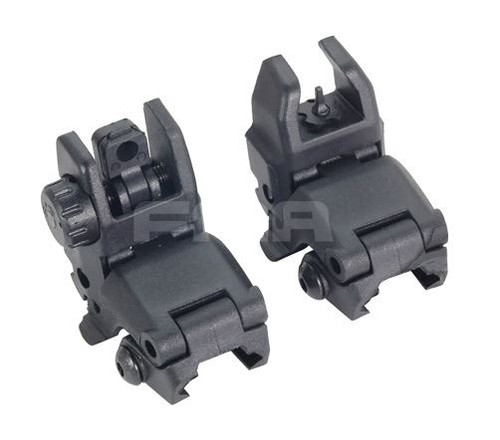 Fma Gen 1 Back Up Sights M4 Iron Sight Black Mbuis Buis Pts Uk