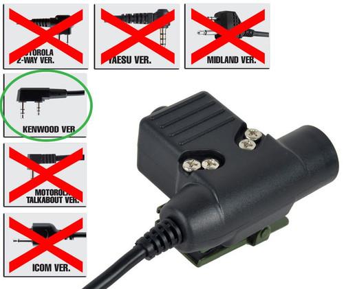 Ptt Radio Button Ztactical Z Sordins U94 Kenwood 2 Way 2 Pin