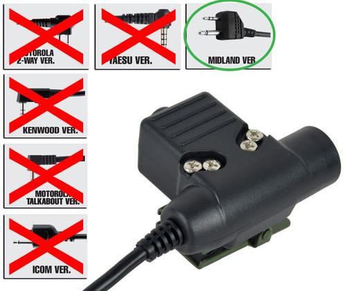 Ptt Radio Button Ztactical Z Sordins U94 Midland 2 Way Uk Switch Unit