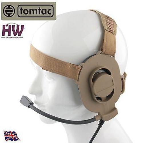 Tomtac Bowman Elite Ii 2 Headset Boom Mic Tan Sand De Helmet Radio Uk