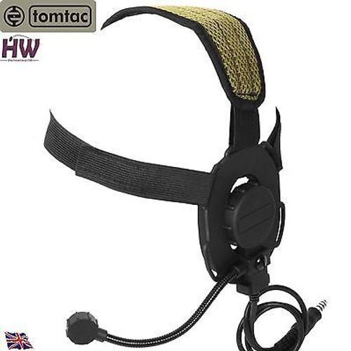 Tomtac Bowman Evo Iii 3 Headset Boom Mic Black Swat Helmet Radio Uk Z