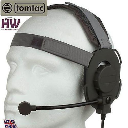 Tomtac Bowman Evo Iii 3 Headset Boom Mic Grey Green Helmet Radio Uk