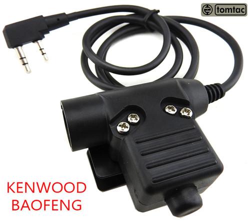 Tomtac U94 Ptt Black 2 Way Radio Switch Sordins Comtac Kenwood 2 Pin