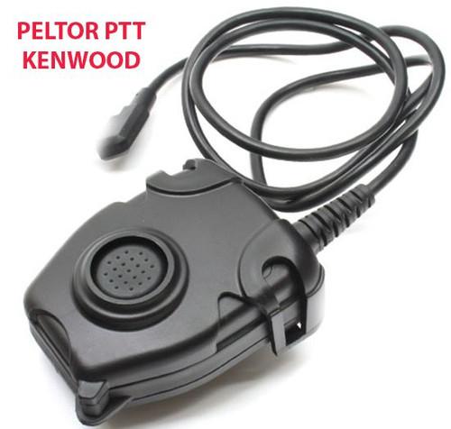 Tomtac Peltor Ptt Black 2 Way Radio Switch Sordins Comtac Kenwood 2 Pin