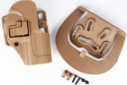 Cqc Serpa Pistol Belt Hard Holster For Usp .45 Compact Tan Sand Uk