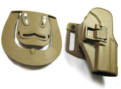 Cqc Serpa Pistol Belt Hard Holster For Usp .45 Compact Tan Sand Uk