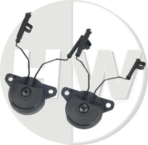 Fma Ussf Bump Helmet Rail Adapters Set Black For Peltor Headset