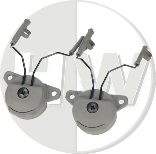 Fma Ussf Bump Helmet Rail Adapters Set Green For Peltor Headset
