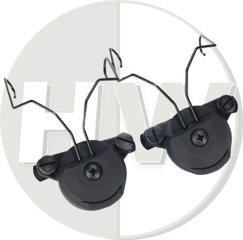 Fma Ussf Bump Helmet Rail Adapters Set Black For Sordin Headset