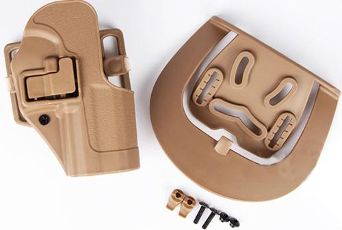 Cqc Serpa Pistol Belt Hard Holster For G17 G18 G22 Tan Sand Uk