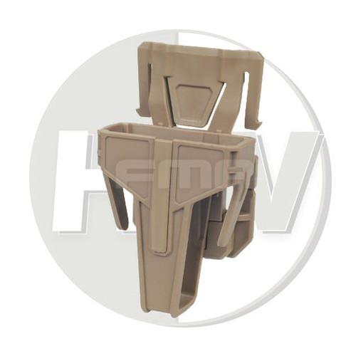 Fma Nylon Fsmr Locking Magazine Pouch For M4 5.56 Molle Type Tan De