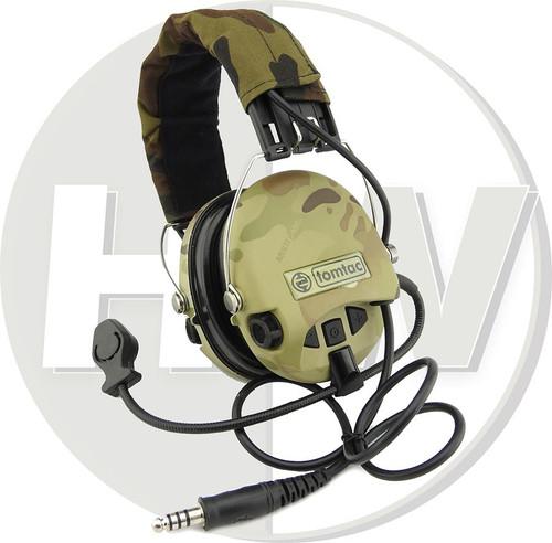 Tomtac Sordin Headset Mic Boom Radio Msa Design Woodland Multicam