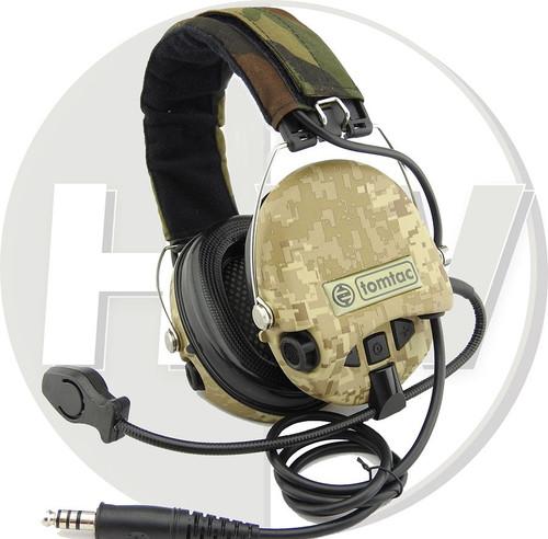 Tomtac Sordin Headset Mic Boom Radio Msa Design Woodland Aor1 Dd