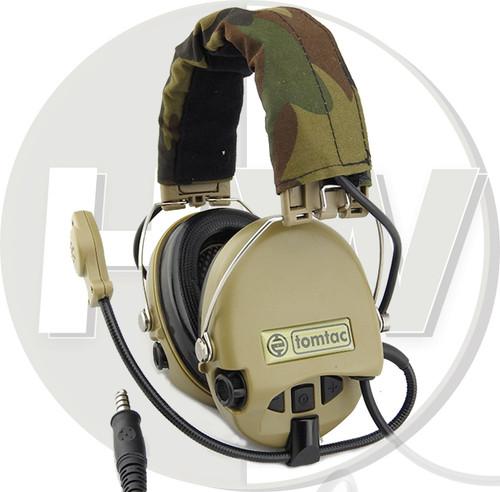 Tomtac Sordin Headset Mic Boom Radio Msa Design Woodland Tan De